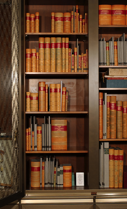 <p>Michel Adanson Library in Hunt Institute's Reading Room, May 2006, photograph by Frank A. Reynolds, reproduced by permission of the photographer.</p>