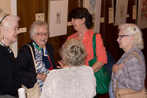 <p>Attendees at the opening reception for <em>Dangerous Beauty: Thorns, Spines and Prickles</em>, 18 September 2014, photograph by Frank A. Reynolds, reproduced by permission of the photographer.</p>