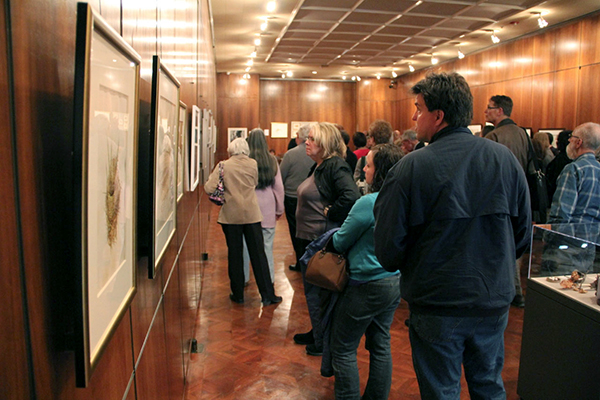 <p>Attendees at the <em>Elements</em> opening reception, 19 March 2015, photograph by Mike Roy, reproduced by permission of the photographer.</p>