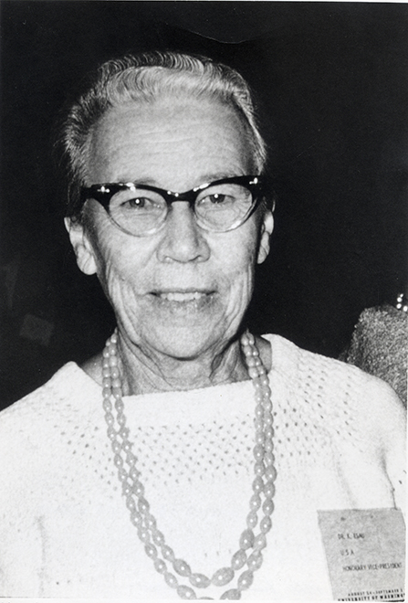 <p>Katherine Esau (1898–1997), XI International Botanical Congress, Seattle, Washington, August 1969, 18 × 12.5 cm, photograph by William L. Stern, HI Archives portrait no. 2.</p>