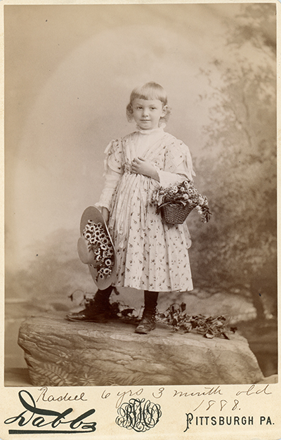 <p>Rachel Miller (Hunt, 1882–1963), Pittsburgh, Pennsylvania, September 1888, photograph by B. L. H. Dabbs, HI Archives portrait no. 46.</p>