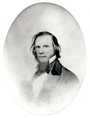 <p>Isaac Sprague (1811–1895), photographic reproduction, 25 × 20 cm, by an unknown photographer probably after an original daguerreotype, HI Archives portrait no. 1.</p>